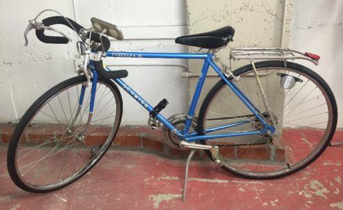 Schwinn Traveler III Road Bicycle Blue Touring Vintage 70s Japan 10 Speed