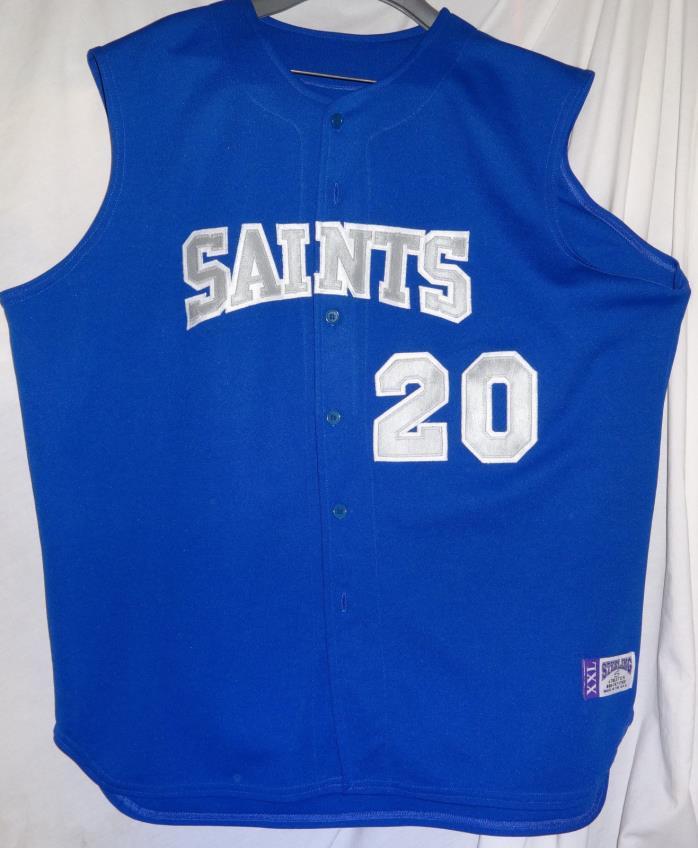 SAINTS #20 Game Used Worn Baseball Jersey