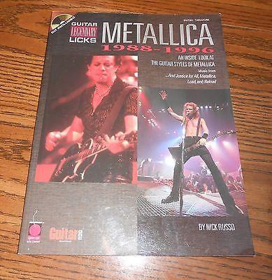 Metallica Songbook Legendary Guitar Licks 1988-1996 14 Songs Paperback Tablature