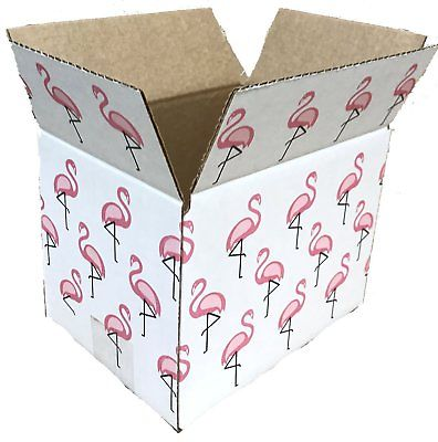 50 8x6x6 Flamingo Designer Boxes corrugated Cardboard Box Shipping Cartons