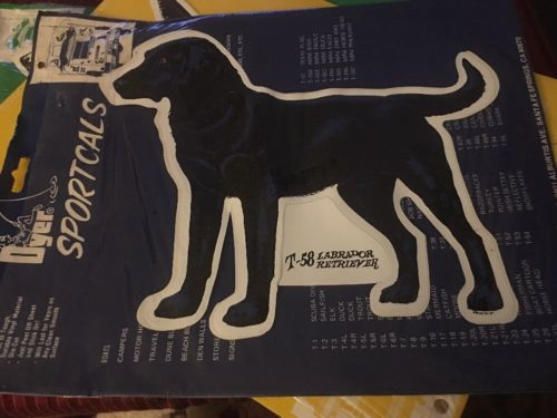 Vtg Dyer SPORTCALS DieCut Vinyl Waterproof Labrador Retriever Decal Sticker