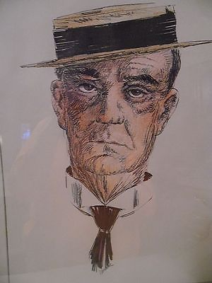Original 16 X 20 Colored Sketch of Buster Keaton #50/300 by S. Weber Framed