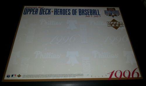 ALL-STAR FANFEST AUTOGRAPH  1996 Upper Deck Heroes Baseball Commemorative Sheet