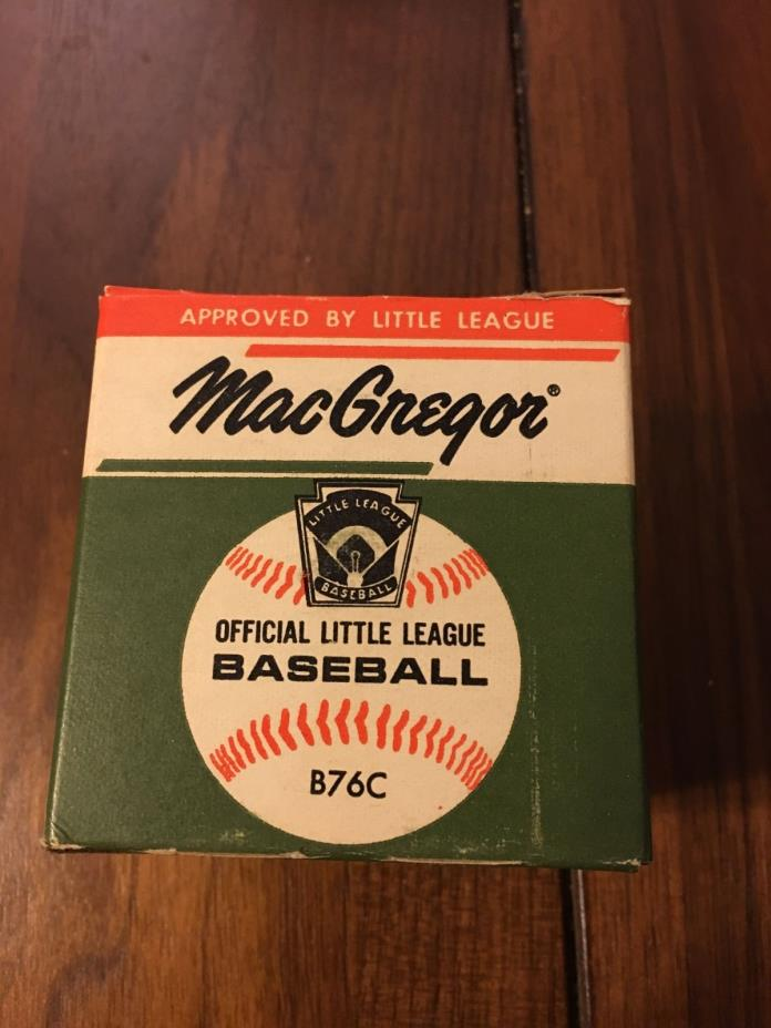 Vintage MacGregor Official Little League Leather Baseball w/Box New Old Stock!