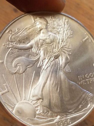 1996 1 oz American Silver Eagle!  Key Date!  Grade With Photo's! .999 Fine