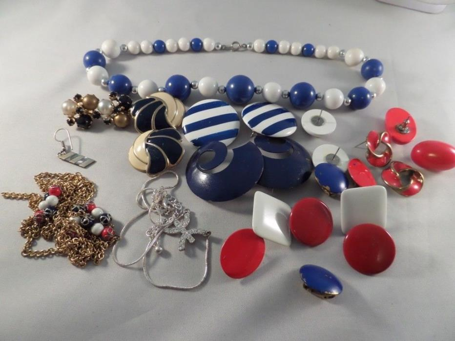 Damaged Jewelry Lot For Parts Repairs or Crafting G4