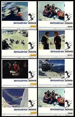 SNOW JOB original 1972 lobby card set JEAN-CLAUDE KILLY 11x14 movie posters
