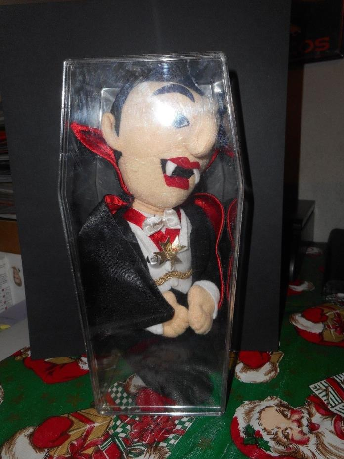 1999 Stuffins Universal Studios Plush Dracula with Plastic Coffin