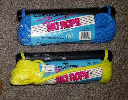 Lot of 2 Cut N Jump Slalom Trainer Ski Rope Tow 70 Ft