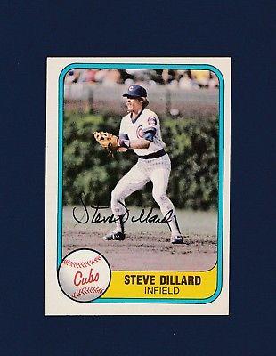 Steve Dillard signed Chicago Cubs 1981 Fleer baseball card