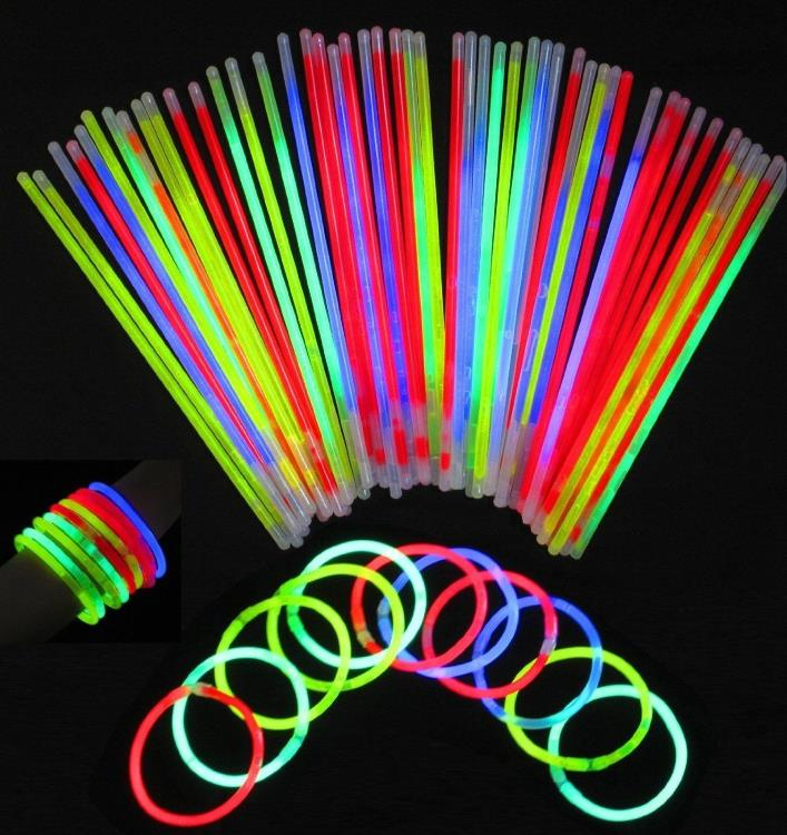Glowsticks Vivii 300-Pack Light-up Toys Glow Stick Bracelets, Mixed Colors