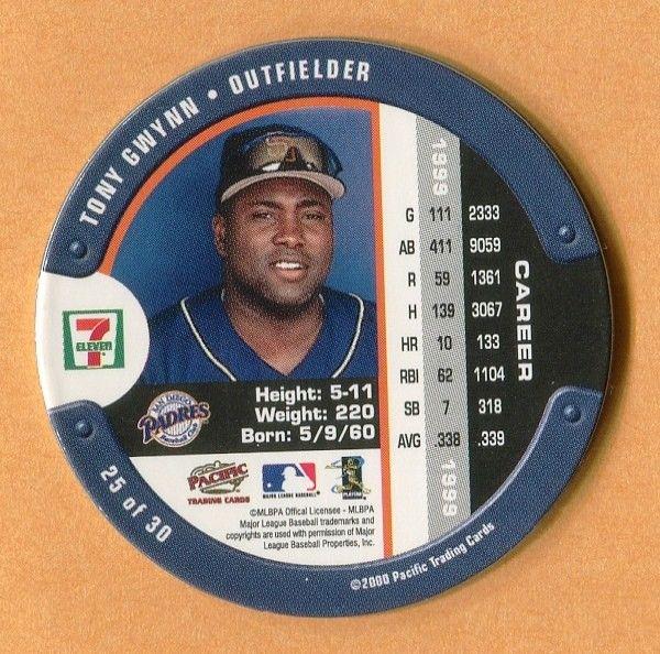 2000 7-11 SLURPEE COIN #25 TONY GWYNN SAN DIEGO PADRES - Hall Of Fame outfielder