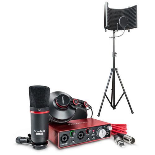 Focusrite Scarlett 2i2 USB Audio Interface Studio Pack 2G Recording Package