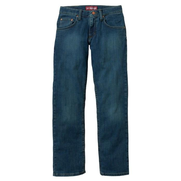 LEE PREMIUM Boys Medium Yellow Tint Faded Regular-Fit Straight-Leg Jeans Size 12