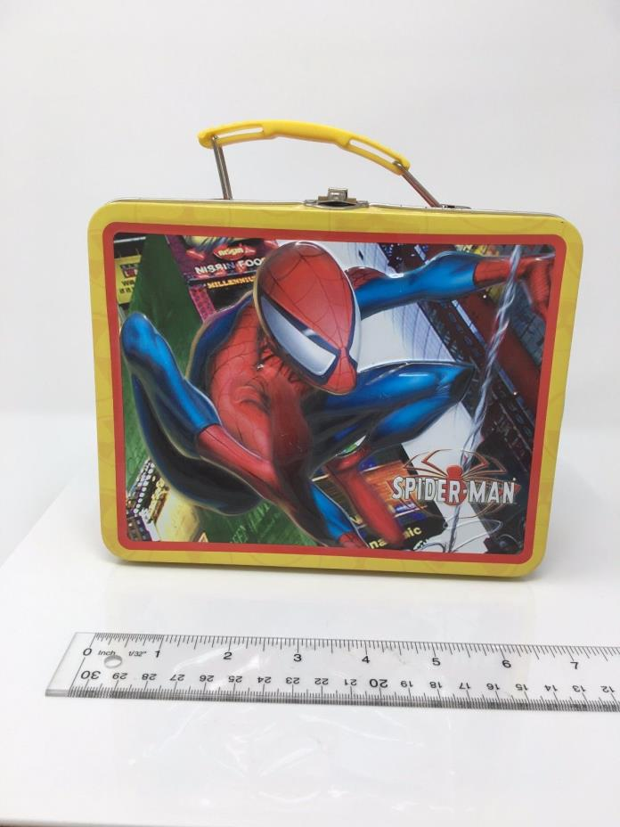 Marvel Spider - Man Spiderman Mini Metal Lunch Box Tin 2004