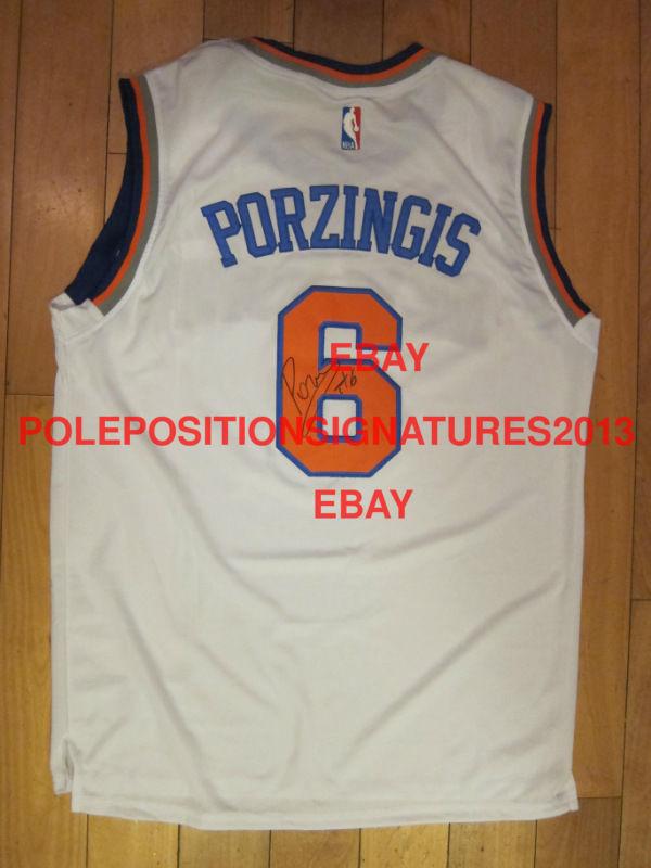 Kristaps Porzingis Signed New York Knicks NBA Jersey PROOF adidas