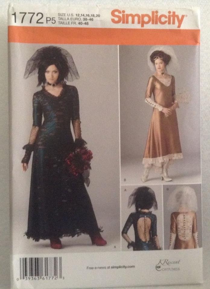 Simplicity Costume Pattern 1772 Size 12-20 NEW Uncut