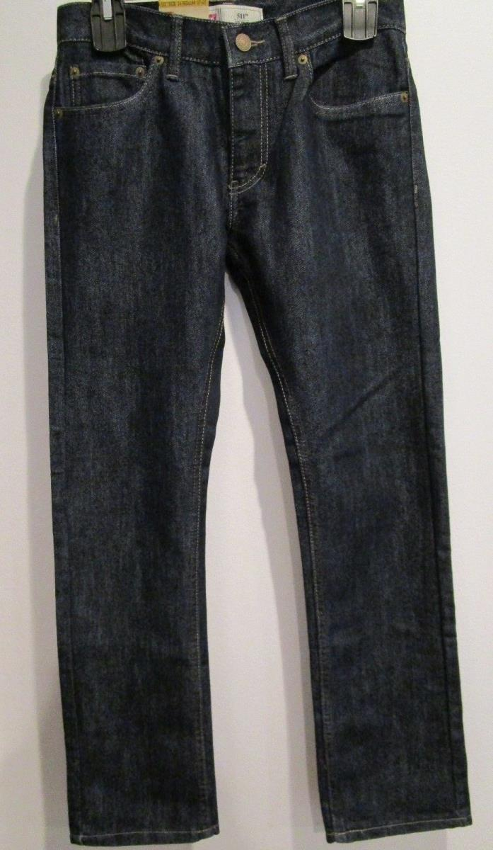 NWT Boys LEVI'S 511 Slim Blue Jeans  Size 14 Regular  27X27  MSRP $44.00