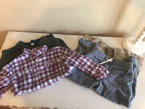 Gap 4t 3t Boys Lot 2 Shirts 2 Pairs Of Pants And A Fisherman's Hat