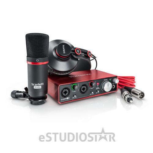 Focusrite Scarlett 2i2 USB Audio Recording Interface Studio Pack- 2nd Generatio