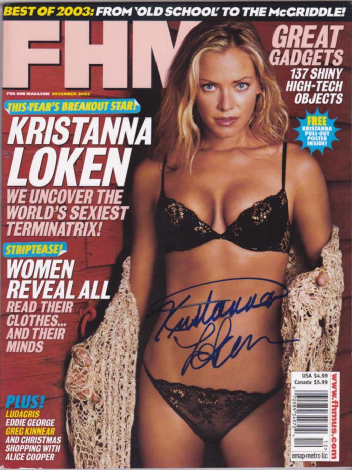 Kristanna Loken signed FHM magazine-Terminator 3. Model-Actress