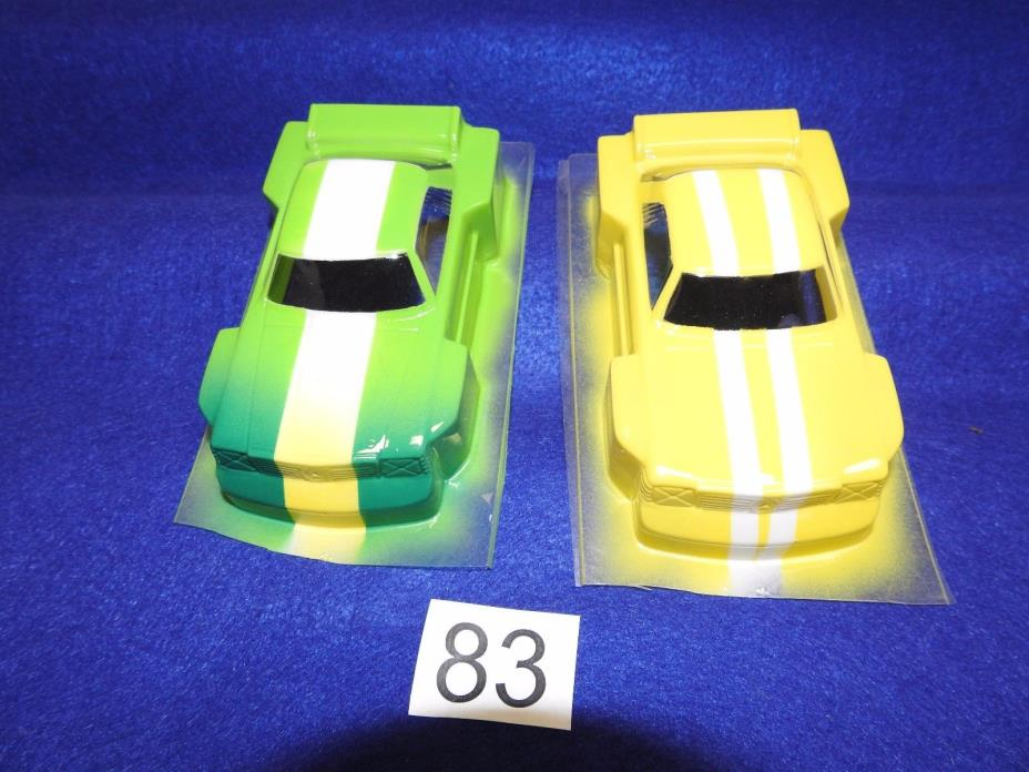SET OF TWO CHAMPION 1/32 SCALE #1272 FACTORY PAINTED MERCEDES LEXAN SLOT BODIES