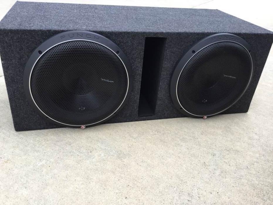 rockford fosgate p3 in sub box with amp