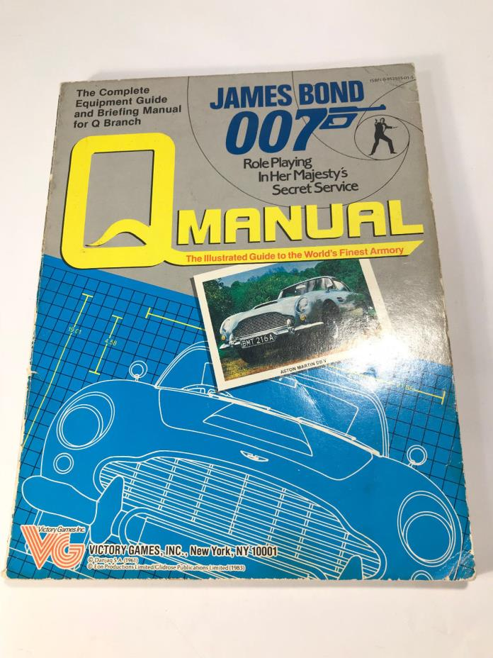 JAMES BOND 007 ROLE PLAYING GAME Q MANUAL #35001
