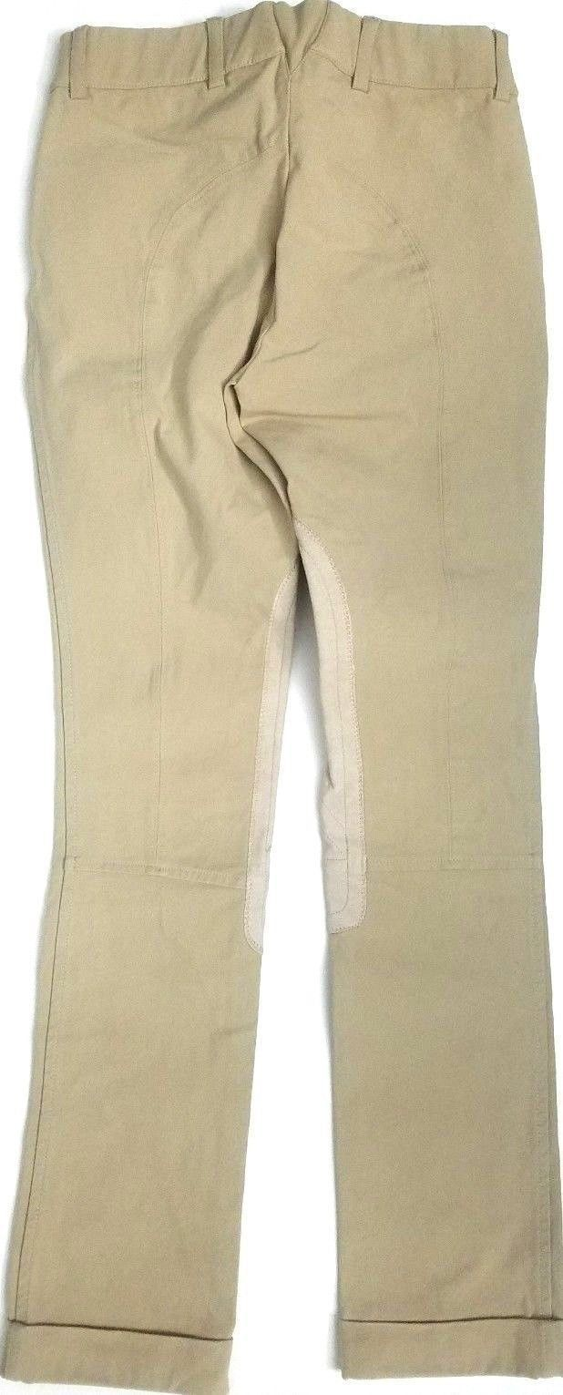 ARIAT: YOUTH'S EQUESTRIAN ENGLISH BREECHES SIZE 14 RIDING PANTS KHAKI COLOR