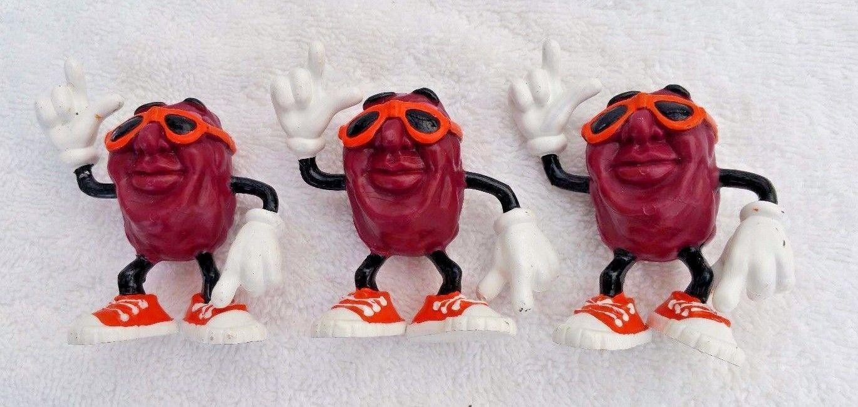 Lot of 3 The California Raisins in Sunglasses 1987 Figures
