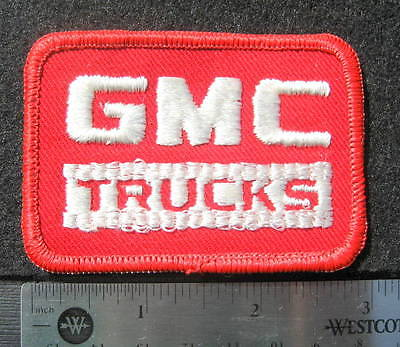GMC TRUCKS EMBROIDERED SEW ON PATCH GENERAL MOTORS COMPANY UNIFORM 3