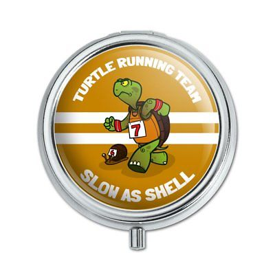 Turtle Running Team Slow As Shell Pill Case Trinket Gift Box