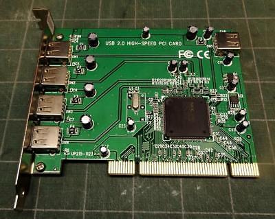 5-port (4+1) USB 2.0 PCI card UP215-1123