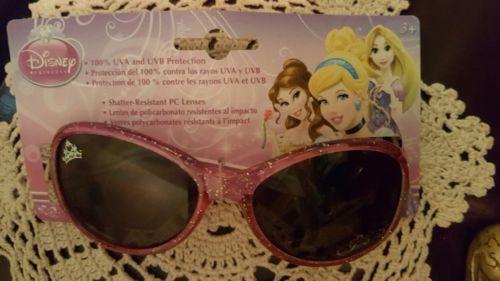 Disney Princess Sunglasses 100% UV Protection Girls Beach Cruise Pink Glitter