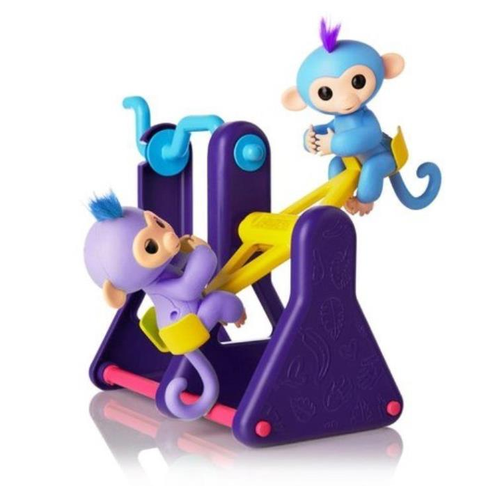 NEW Fingerlings Baby Monkey Playground Seesaw Stands Climbing Platform Toy