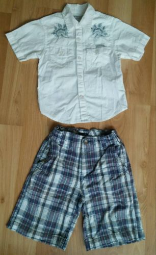 Guess Button Shirt (sz. M) & Tommy Hilfiger Shorts (sz. 6) Boys Lot of 2