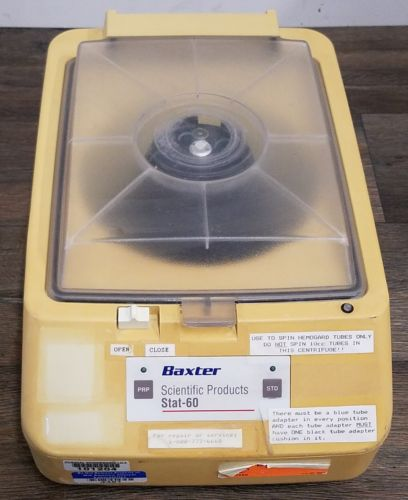 Baxter Scientific Products Stat-60 Centrifuge Cat. B4360