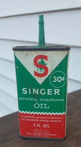 Singer sewing machine oil 4oz can empty vintage