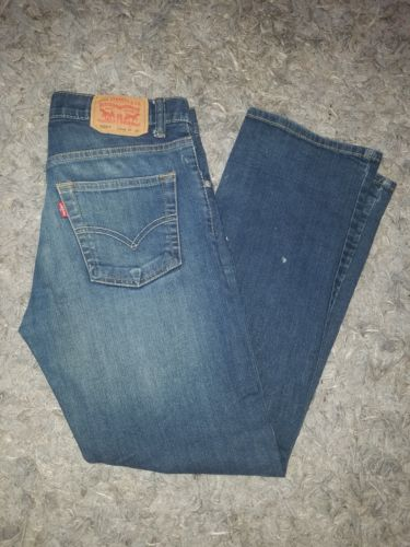 Levis 505 Regular Boys Kids Denim 100% Cotton Jeans Size (14 SLIM) 25 x 27