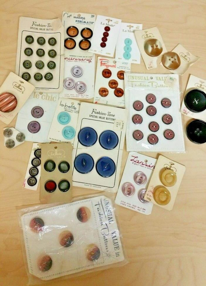 Vintage Buttons Sewing Craft Collection