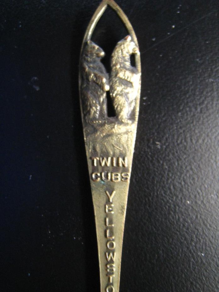 Vintage Yellowstone National Park Twin Cubs/Bears Letter Opener 5.25