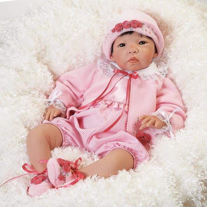 Asian Newborn Baby Doll Girl Realistic Lifelike Reborn Weighted 21