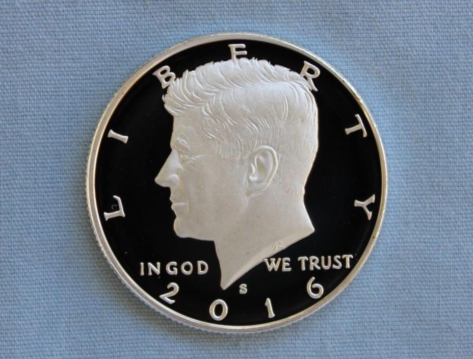 2016-S Kennedy Silver Proof Half Dollar Ultra Deep Cameo!!
