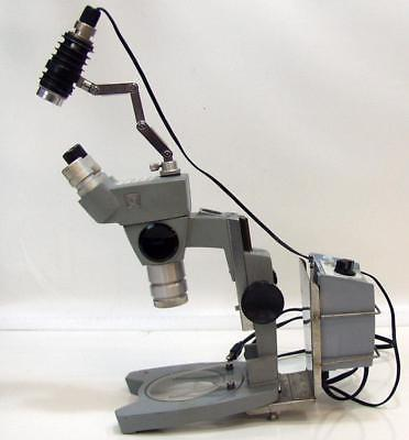Spencer American Optical Binocular Microscope With Illumination Light