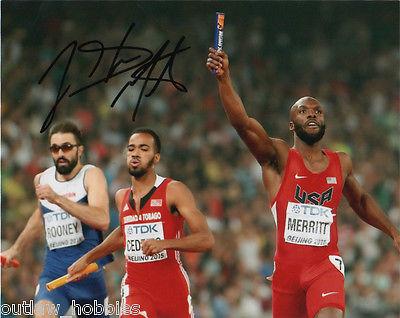 Lashawn Merritt Autographed Signed 8x10 Photo COA