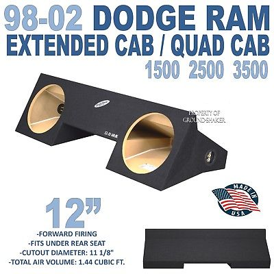 Dodge ram Quad cab Subwoofer box 12