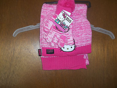 Hello Kitty gloves scarf and stocking hat OSFM