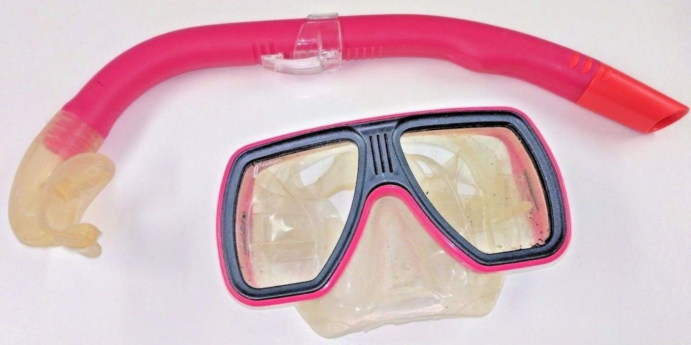 PINK SEA QUEST MASK AND MARES  SNORKEL