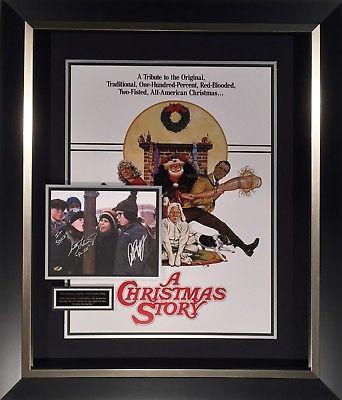 A Christmas Story Cast Signed Movie Poster Display Framed Peter Billingsley