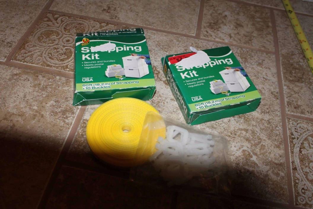 Strapping Kit - DUCK Brand / Henkel - Secures & Bundles 60 feet + 10 buckles
